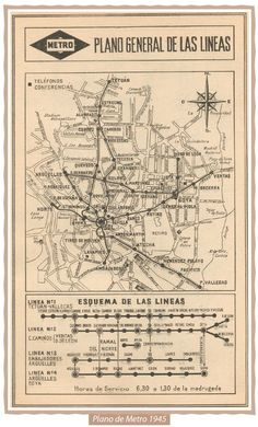 Transit Maps: Submission – Historical Map: Madrid Metro Map and Linear Diagram, 1945 Best Hotels In Madrid, Madrid Metro, Bus Map, Transport Map, Emo Love, Metro Map, Madrid Travel, Spain Images, Old Maps