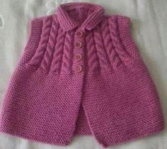 We have compiled 100 crochet baby vest pattern samples. See all of 40 crochet baby vest patterns. Browse lots of Free Crochet Patterns. Knit Baby Sweaters, Toddler Sweater, Knitted Baby Clothes, Baby Cardigan, Knitting For Kids, Baby Knitting Patterns, Crochet Patterns, Vest Pattern, Baby Kind