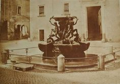 1855 circa Dovizielli Piero . Piazza Mattei, fontana delle Tartarughe.