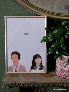 500 Days of Summer movie poster  A4 print by merrynotesdesigns