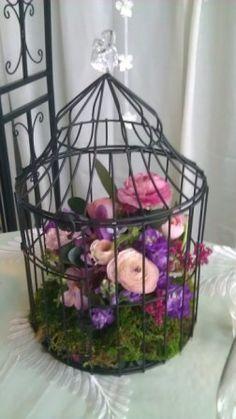 bird cage centerpiece | Bird Cage centerpiece