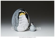 On an Easter note, I would like to show another quilled egg I made recently. This is an emperor penguin. Emperor penguins are the tallest ...