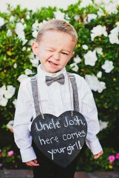 chalkboard wedding ring bearer