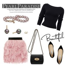 """""""Beautiful by Pearl Paradise"""" by pearlparadise ❤ liked on Polyvore featuring N°21, Donna Karan, Mulberry and Jimmy Choo"""