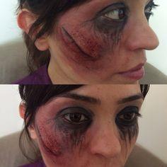 Horror makeup. Hallowen makeup