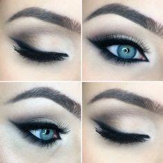 MAKE-UP Soft brown and beige cat eye, wedding makeup
