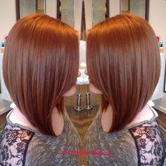 Lob bob hair!#bohair #greenhair #balayage #ombre #pravana #hairtrend2015 #redhair #lobbobs  Great hair and services live at D-Rock Salon | Fairfax VA| 703-293-9400 Drocksalon.com  Instagram @drocksalon