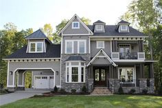 Alluring luxury home with deep European influences . This home offers 5 bedrooms, 4.5 baths and 3970 living sq ft. (ThePlanCollection: House Plan #198-1060) #luxuryhomes