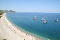 Olympus beach, Turkey. There are a few ruins left from the ancient city that thrived in this valley thousands of years ago but the main draw is the huge beach and backpacking party scene on offer.