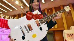 Conocías esta guitarra de Hello Kitty no es la versión de Fender o Squike esto lo supera   www.pedaleras.com