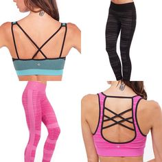 These two new styles of sports bras and leggings are in stock now! Treat yourself before they're gone for good. Gone For Good, Activewear, Leggings, Clothes For Women, Fitness, Sports, Collection, Style, Fashion