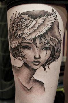 50ee4a121 Benjamin Laukis @ Pure Vision Tattoo. Pretty sure this is an Audrey  Kawasaki piece Love