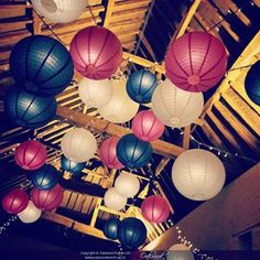 Oakwood Events (@oakwoodevents) • Instagram photos and videos O Love, Ceiling Decor, Paper Lanterns, Lampshades, Bold Colors, Color Schemes, Seasons, Photo And Video, Events