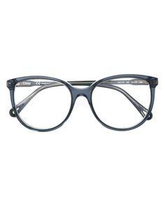 90be6c20cd30 Chloé - Blue Round Frame Eyeglasses - Lyst Womens Glasses