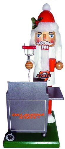 12 NCAA Oklahoma State Cowboys Sports Tailgating Wooden Christmas Nutcracker * See this great product.