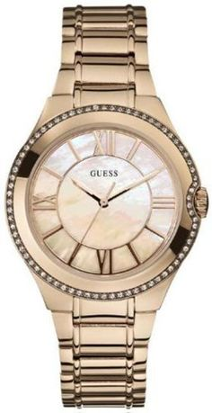 GUESS Hi-Status Shine Watch GUESS. $105.00. rose gold. water resistant. women's trends. crystal. analog watch