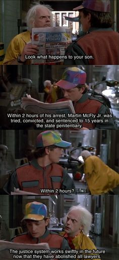 To law school students: Did any of you actually watch Back to the Future?