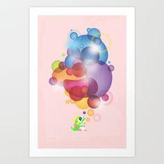 Bubbled Art Print by slippytee - $20.80