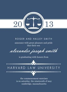 easy to create law school graduation announcements and law school graduation invitations that make the grade youll be proud to send a personalized law - Law School Graduation Invitations