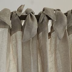 Linen Sheer Tie Top Panel...Idea: Do this with sheer ties ... or .... something jangly-ish