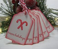 Candy Cane Holiday/Christmas Gift Tags by TorisCustomCreations