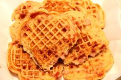 Waffles with Ham