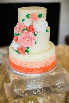 Get Inspired: 38 Impressive Wedding Cake Ideas. http://www.modwedding.com/2014/02/05/38-impressive-wedding-cake-ideas/ #wedding #weddings #cakes... Personalized Cake serving sets...  http://www.thevineyard.carlsoncraft.com