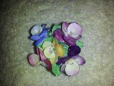 Coalport bone china pansies in a bowl