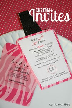 spa themed party | ... . We next started going crazy with the pink, black and zebra theme