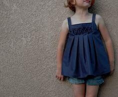 Lovely smocked summer dress.