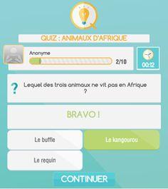 Un quiz sur les animaux d'Afrique