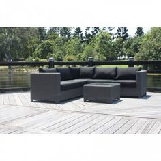 Ciao 4 piece Corner Deep Seat suite  Be the first to review this product  4 Pce Modular Lounge suite Extra deep  SIZE:Lounge: 250cm x 250cm 85cm Deep. Coffee Table 75cm Square. 2 colour option; Rust Free aluminium frame with UV stabilised wicker