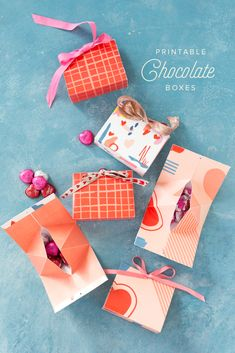 Free Valentine's Day printable Chocolate Boxes