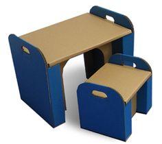 cardboard desk & chair / 子供机と子供椅子 ダンボールの机&イス 森井紙器工業 (MORIISHIKI)