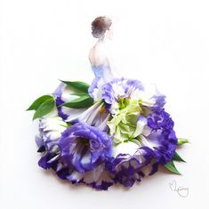 Fashion Illustrator Grace Ciao Turns Flower Petals Into Gorgeous Dresses Source by ramibellew dress sketches Grace Ciao, Arte Floral, Deco Floral, Arte Fashion, Floral Fashion, Dress Fashion, Work Fashion, Fashion Fashion, Trendy Fashion