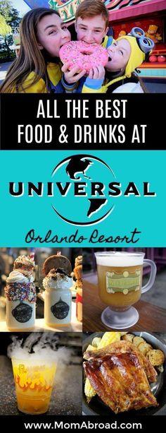 All the Best Universal Orlando Food and Drinks - Universal Studios USA! Universal Orlando, Universal Studios Food, Universal Studios Florida, Universal Studios Restaurants, Universal Resort, Universal Hollywood, Orlando Travel, Orlando Vacation, Orlando Resorts