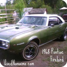 1968 Pontiac Firebird. Total class. Found on UsedNanaimo.com. #vintage #classiccars #vintagecards