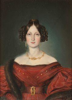 "Carl Rahl (1812-1865)-Attrib. ""Small Portrait of Paula Schedius"", Oil, 1834 in Art, Art from Dealers & Resellers, Paintings | eBay"