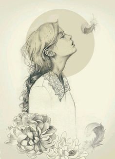 Drawing of girls with flowers fashion illustrations Ideas Art And Illustration, Art Illustrations, Fashion Illustrations, Fashion Sketches, Character Illustration, Drawing Sketches, Art Drawings, Pencil Drawings, Awesome Drawings
