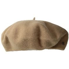 LAUREN Ralph Lauren Basque Beret (Camel) Traditional Hats ($38) ❤ liked on Polyvore featuring accessories, hats, wool hat, wool beret hat, wool beret, camel hat and lauren ralph lauren