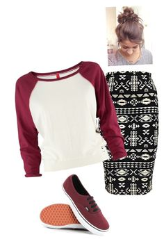 Untitled #758 by bye18 on Polyvore featuring polyvore fashion style H&M Boohoo Vans clothing