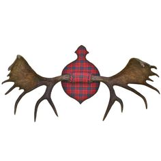 Moose Antler Sportsman's Trophy | From a unique collection of antique and modern wall-mounted sculptures at http://www.1stdibs.com/furniture/wall-decorations/wall-mounted-sculptures/