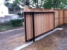 Sliding gate instead of swing-gate