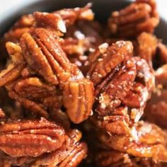 Spicy Candied Pecans Spicy Candied Pecans Recipe These aren't your typical candied pecans, these Spicy candied pecans have a kick that makes them downright irresistible! Spicy Candied Pecans Recipe, Spiced Pecans, Roasted Pecans, Candied Nuts Recipe Stovetop, Glazed Nuts Recipe, Glazed Pecans, Walnut Recipes, Pecan Recipes, Snack Recipes