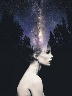 Poetic Double Exposure Portraits - most of the ones in this article need some adjustments to be truly great but they are a good inspiration and jumping off point..