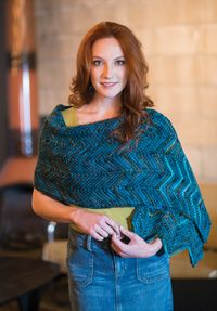 Taos Wrap - from the Fall 2014 Issue of Love of Crochet magazine  The soothing hues and splendid yarns in this shawl will have you conjuring up thoughts of a stunning southwestern landscape. Let each stitch whisk you away as you create this classic chevron design, composed of strategically placed increases and decreases worked in Tunisian crochet.