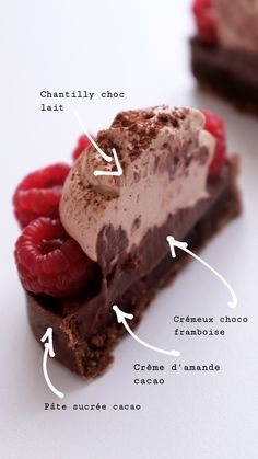 tartelettes chocolat framboises – Expolore the best and the special ideas about Logo branding Pastry Recipes, Tart Recipes, Sweet Recipes, Dessert Recipes, Desserts With Biscuits, French Patisserie, Logo Patisserie, French Desserts, Cake Shop