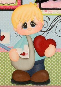 PMBY JULIE Valentine child Premade Scrapbook Pages 4 Album paper piecing Paper Punch Art, Paper Art, Paper Crafts, Greeting Card Shops, Valentines Art, Paper Piecing Patterns, Scrapbook Embellishments, Christmas Art, Scrapbook Cards