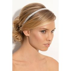 messy wedding updo hairstyle with silver headband