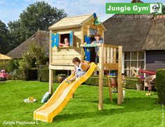 Lovely Wooden Jungle Gym for Kids